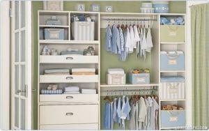 Organização do quarto do bebe